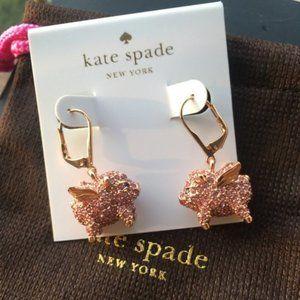Kate Spade Pink Zircon Pig Earrings